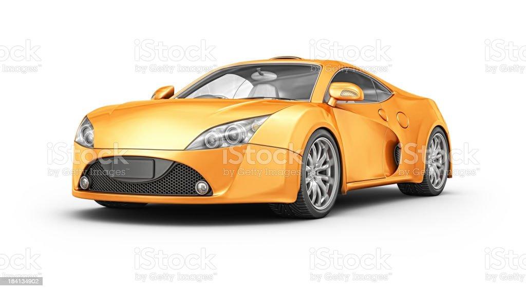 orange supercar royalty-free stock photo