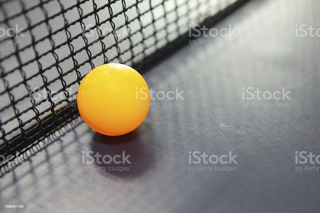 Orange table tennis ball royalty-free stock photo