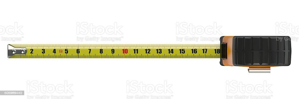 orange tape measure stock photo
