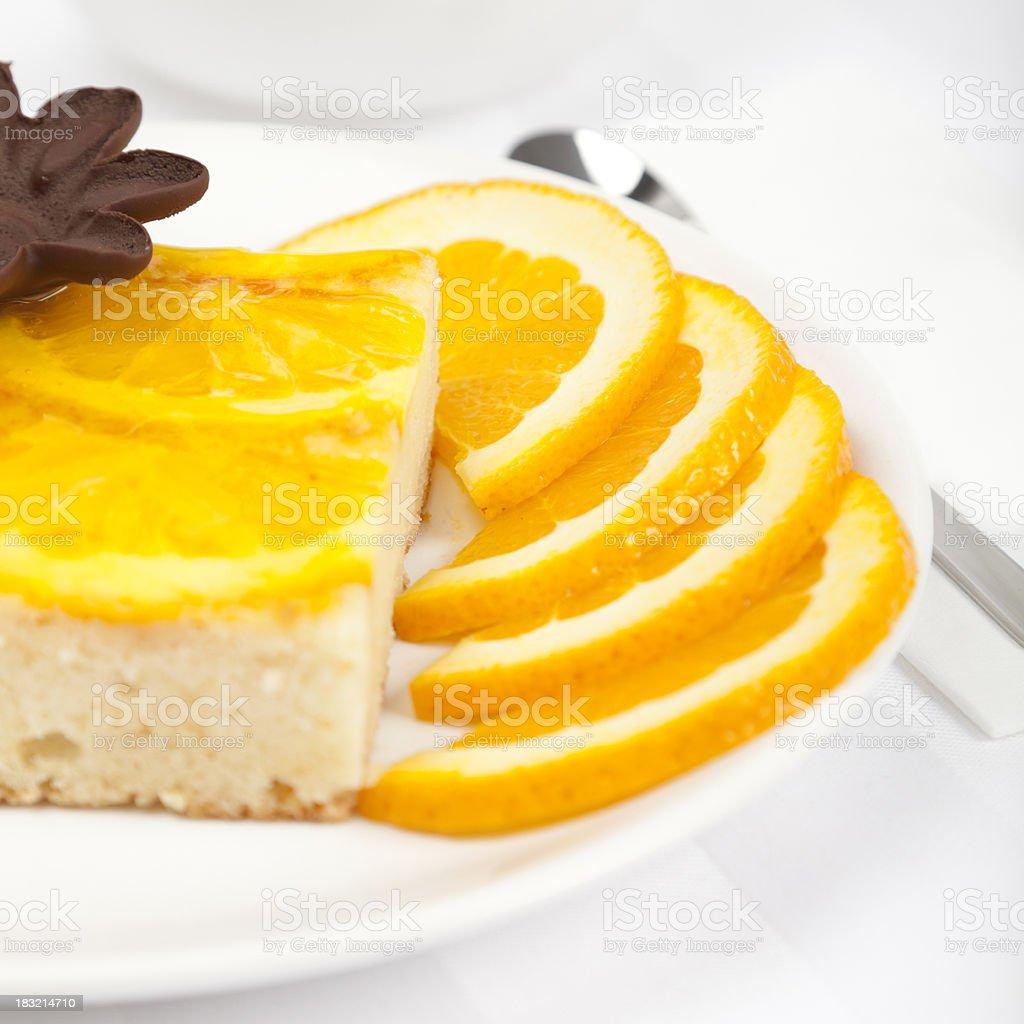 Orange tart royalty-free stock photo