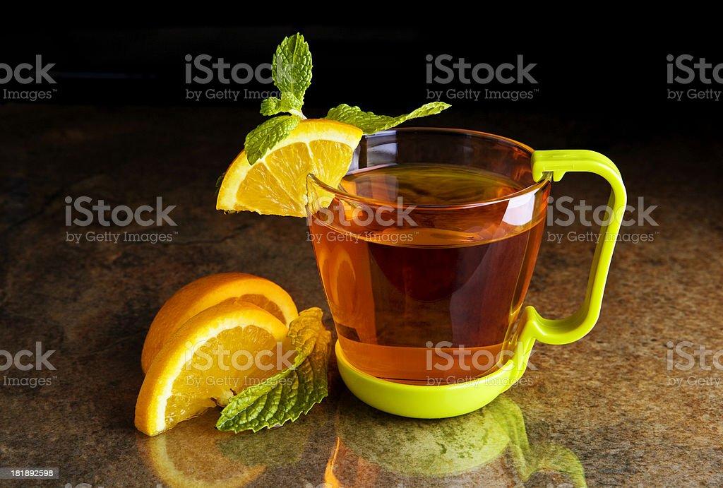 Orange tea royalty-free stock photo