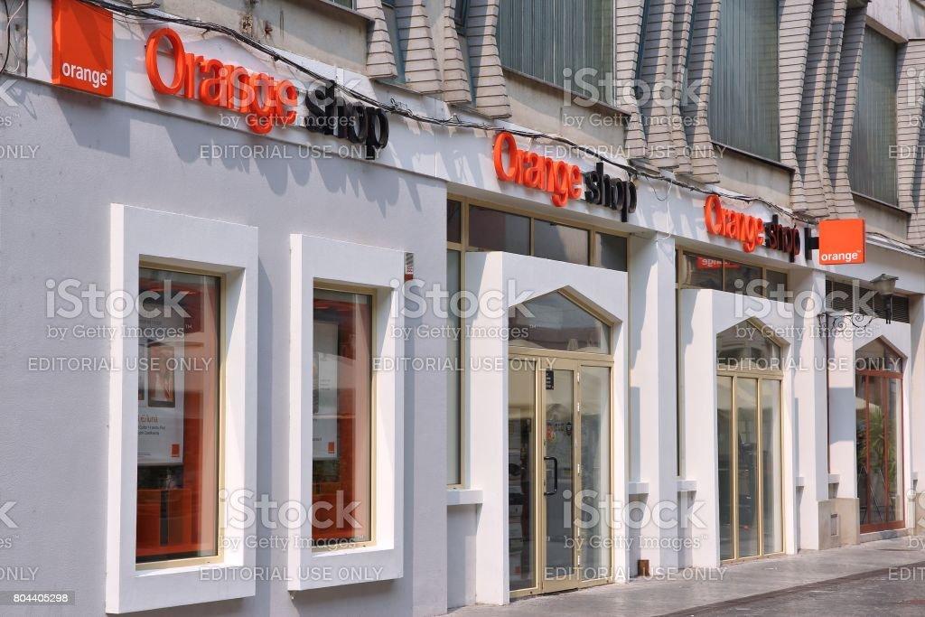 Orange telecom, Romania stock photo