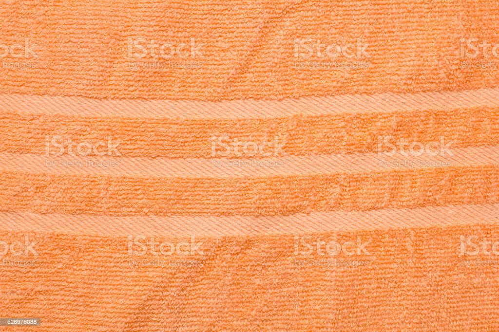 orange terry towel texture  background stock photo