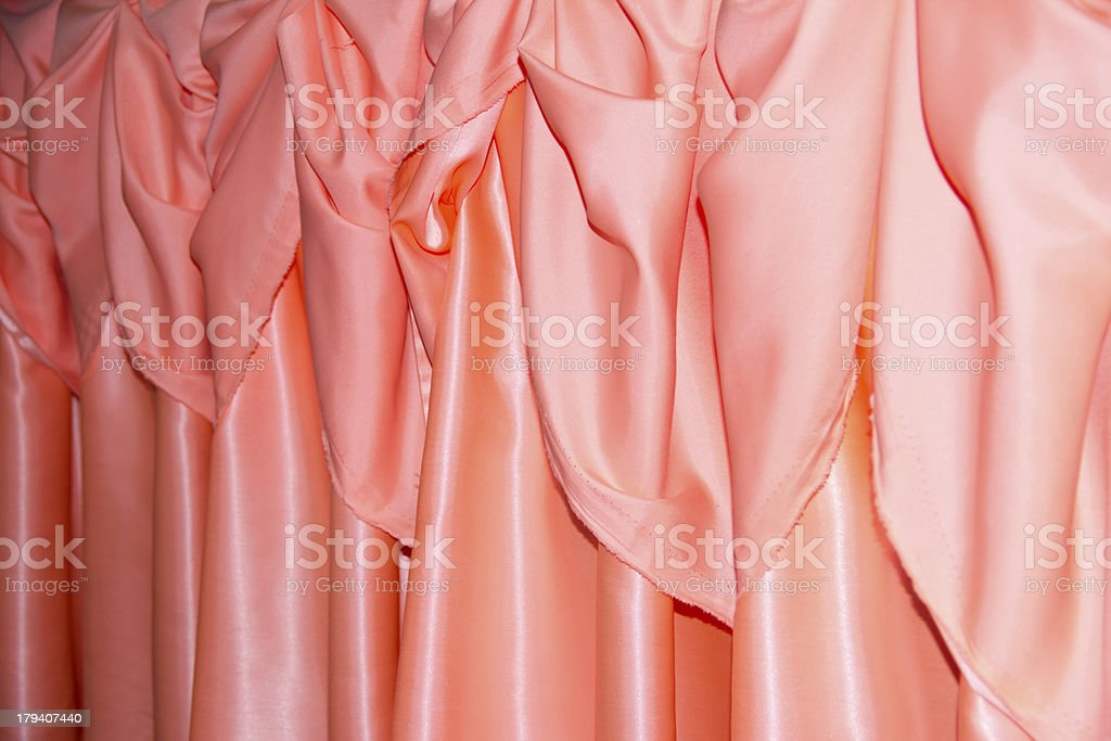 Orange thai design of native cloth royalty-free stock photo