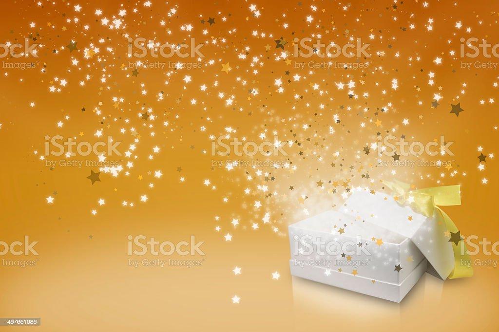 Orange Thema Begrüßung seasons Sterne-box Lizenzfreies stock-foto