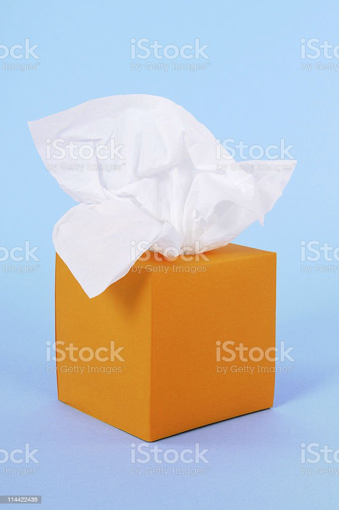Orange tissue box stock photo