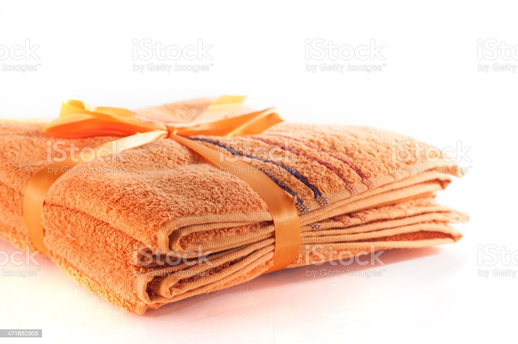 Orange towel royalty-free stock photo