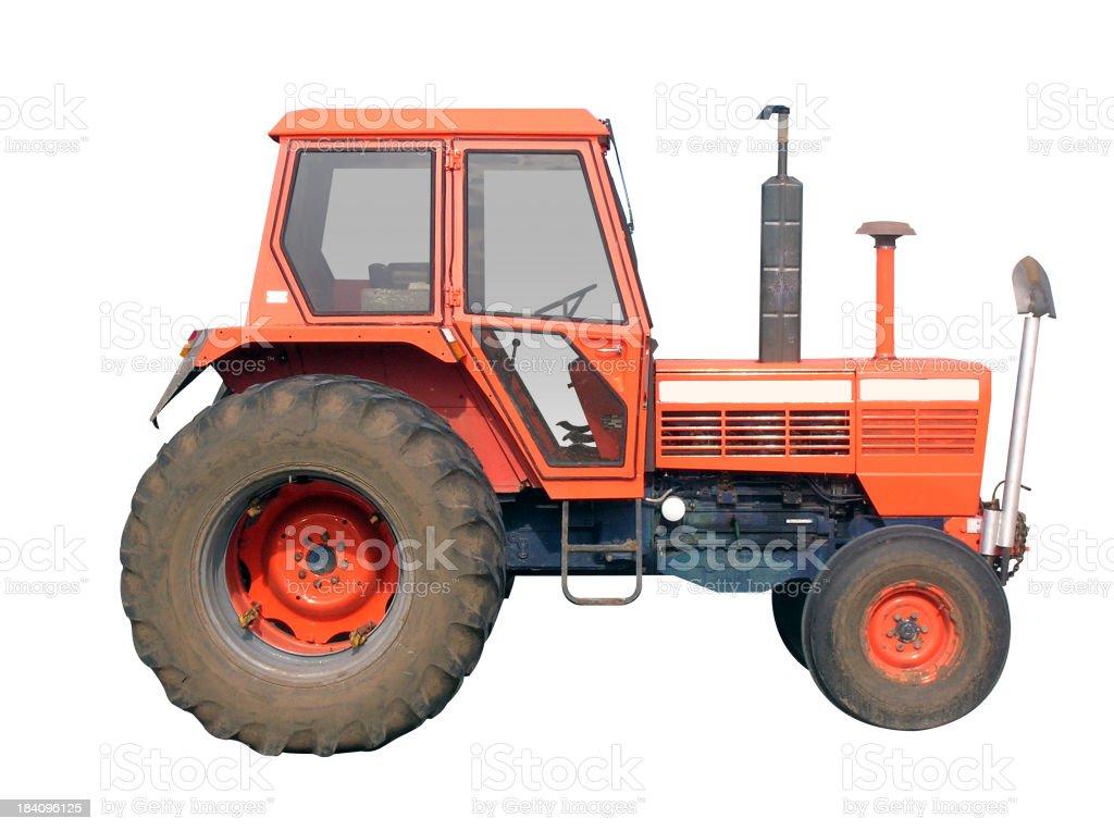 Orange Tractor royalty-free stock photo