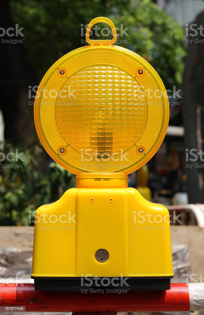 Orange Traffic Light with clipping path royalty-free stock photo