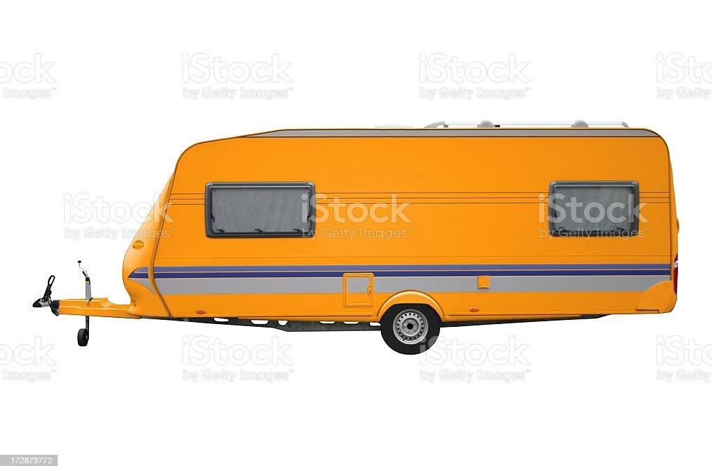 Orange Trailer Isolated royalty-free stock photo