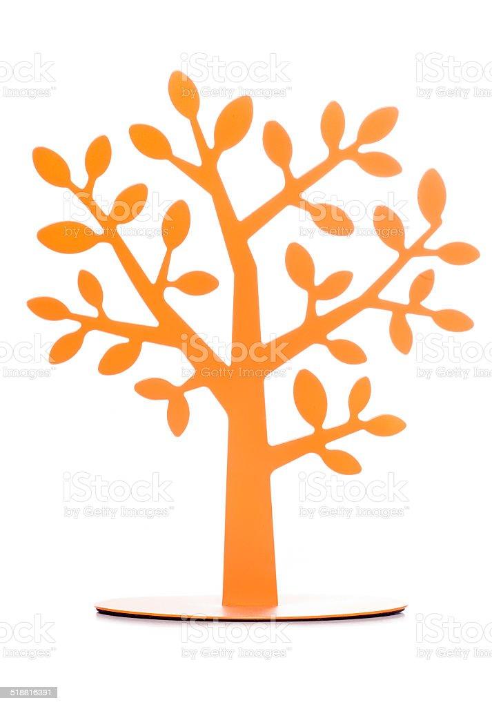 Orange tree decoration stock photo