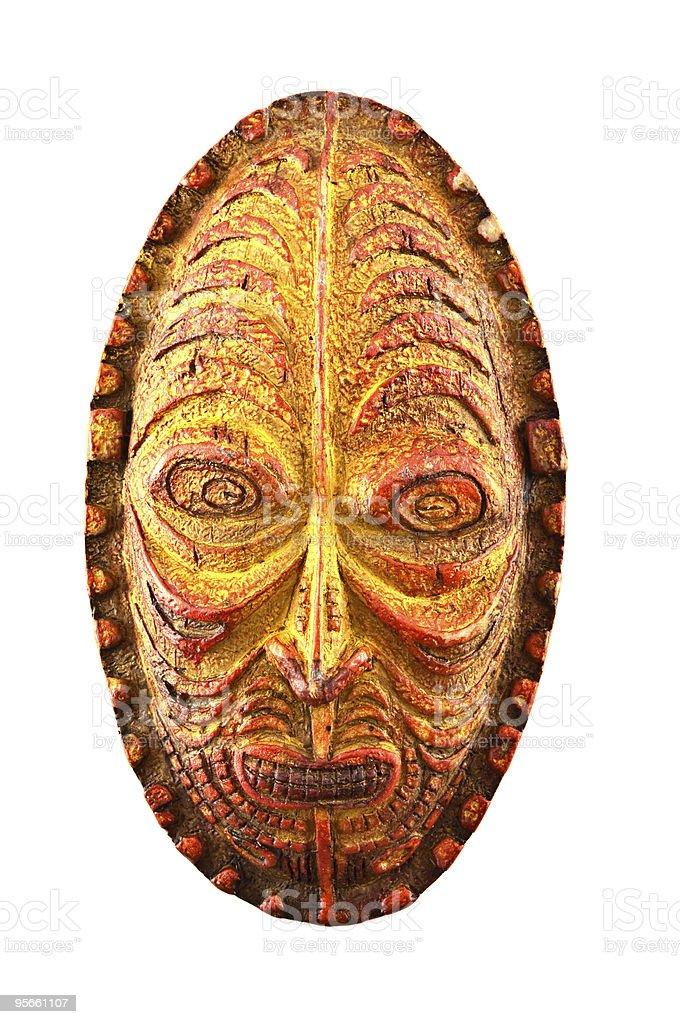 Orange Tribal Mask royalty-free stock photo