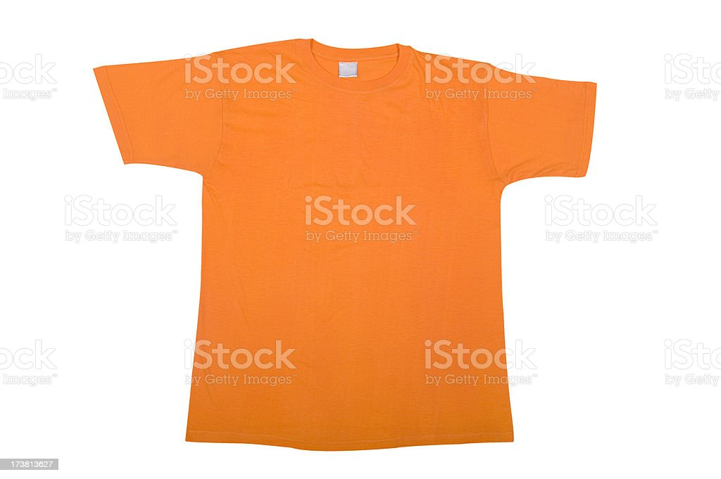 Orange T-shirt royalty-free stock photo