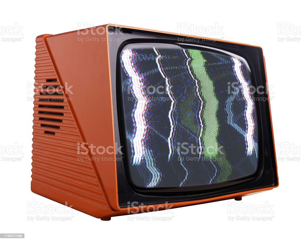 orange tv royalty-free stock photo