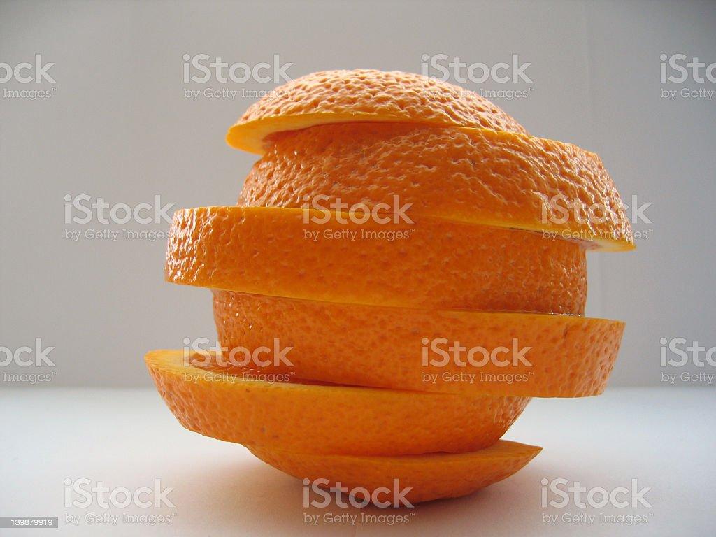 Orange Twist stock photo