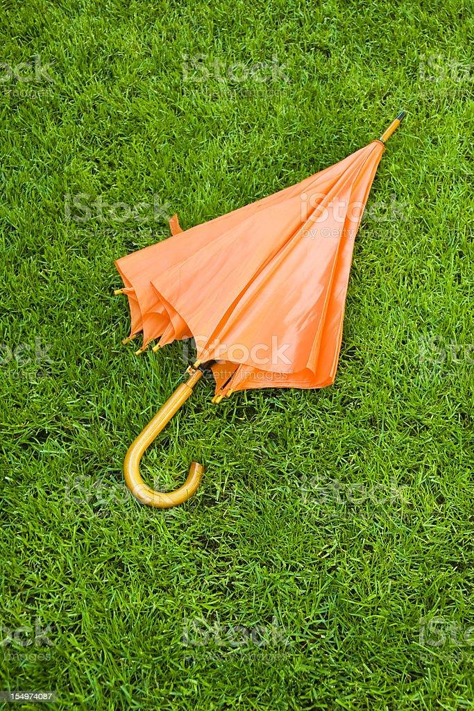 Sombrilla de Orange foto de stock libre de derechos