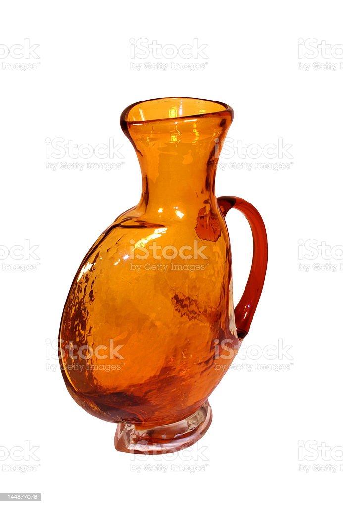Orange vase royalty-free stock photo