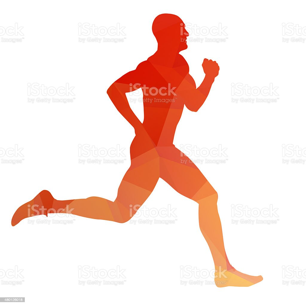 Orange vector runner silhouette stock photo