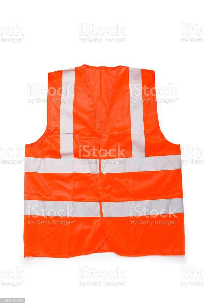 Orange vest isolated on the white background stock photo