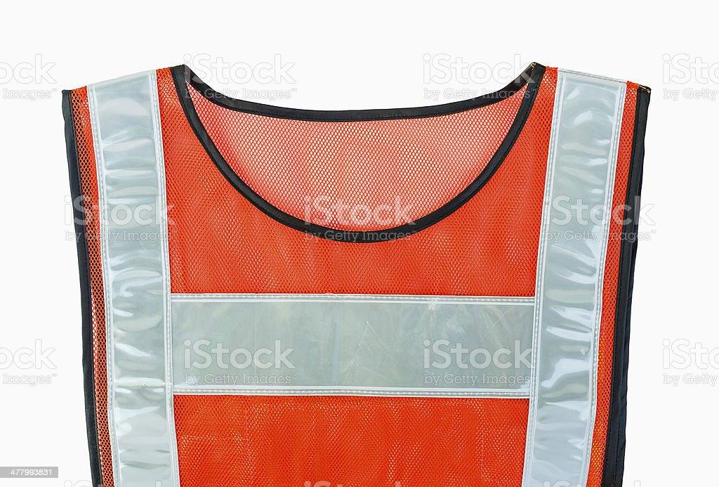 Orange-Weste Lizenzfreies stock-foto
