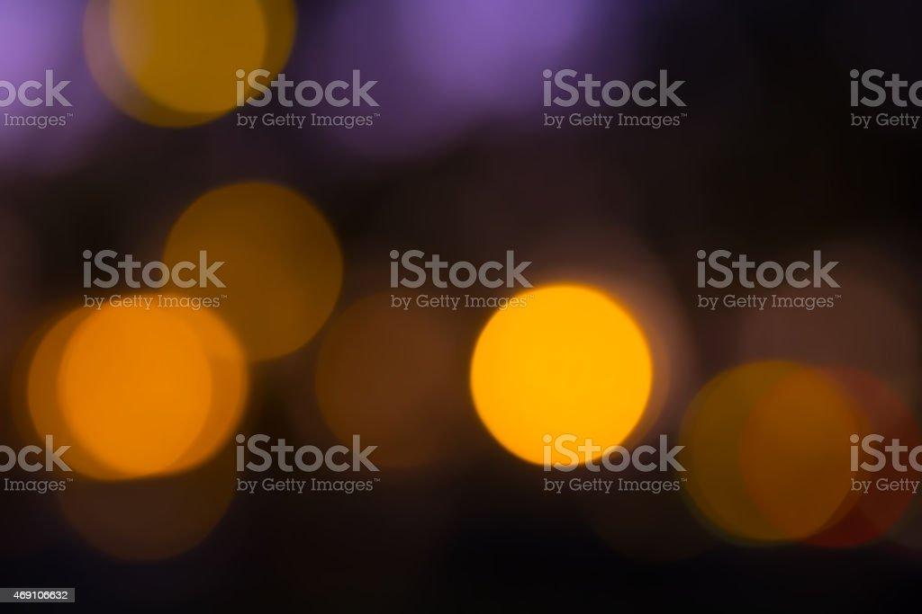 Orange violet bokeh abstrato luz de fundo. foto royalty-free