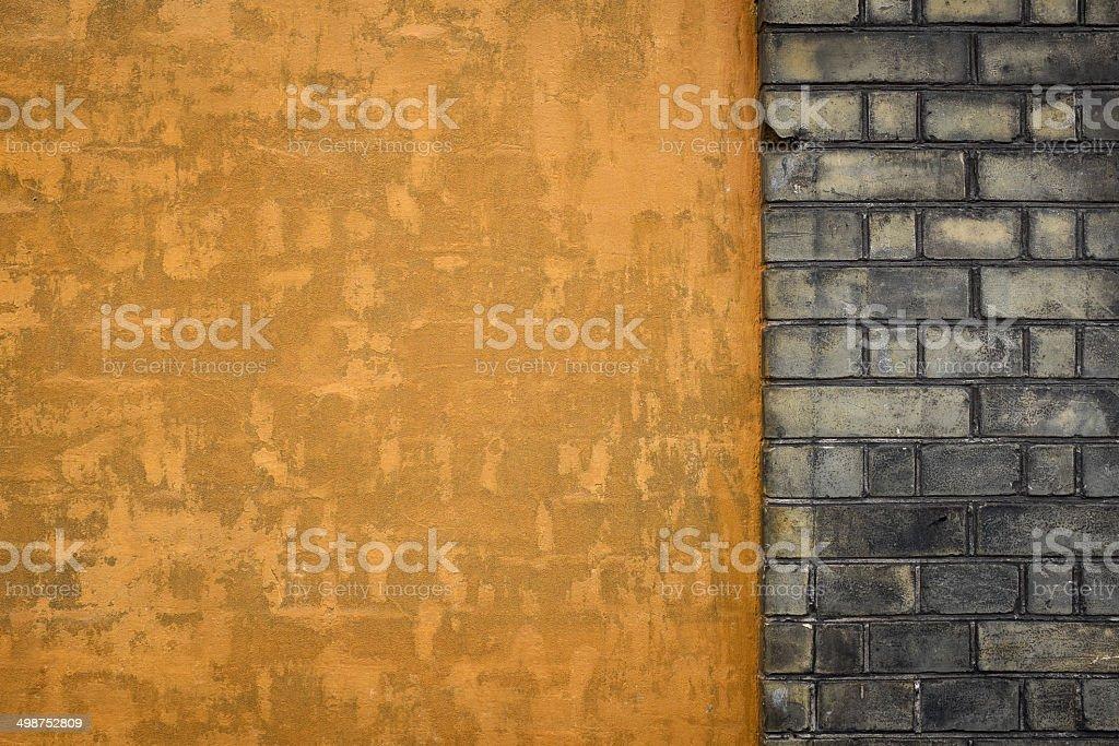 Orange Wall Background royalty-free stock photo