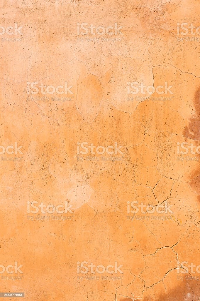 Orange wall background texture, Assisi Italy royalty-free stock photo