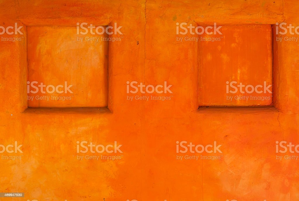 Orange wall design royalty-free stock photo