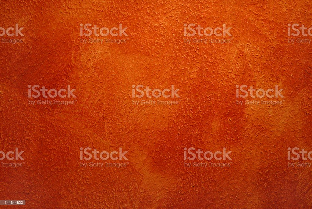 Orange wall paint with texture stock photo