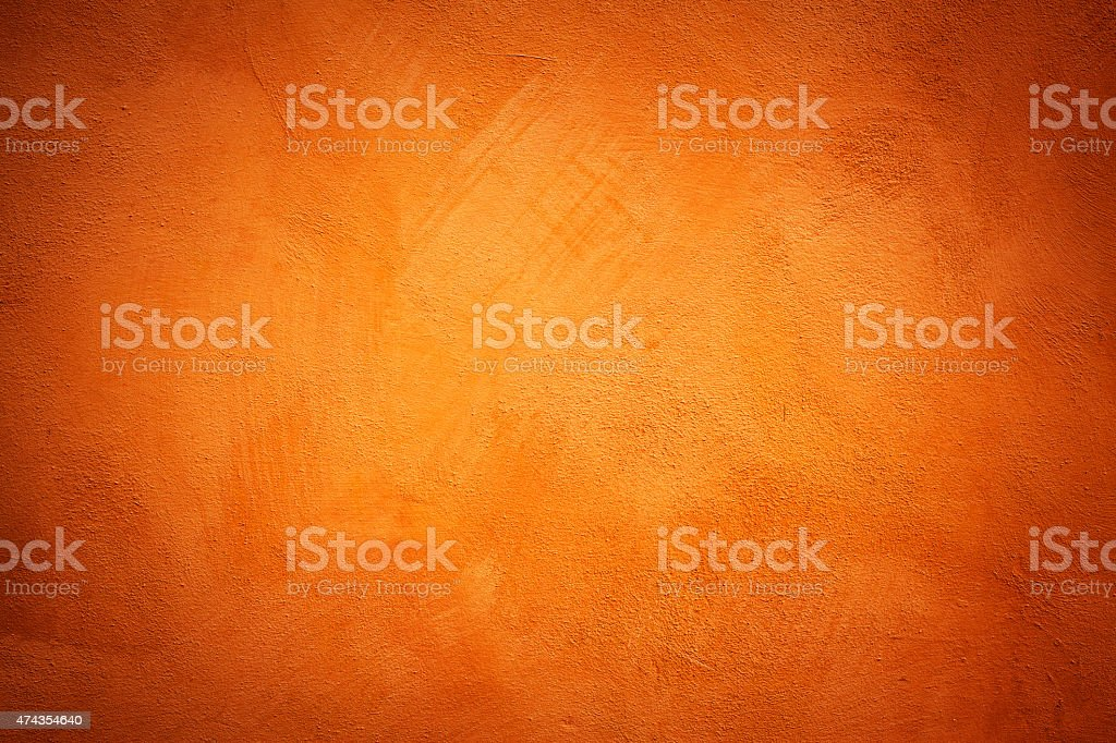 Orange Wall Texture stock photo