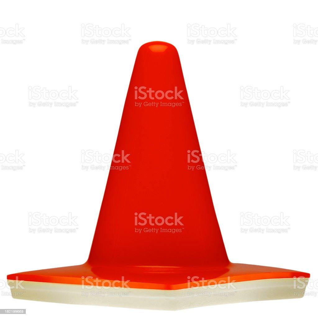Orange Warning Safety Cone stock photo