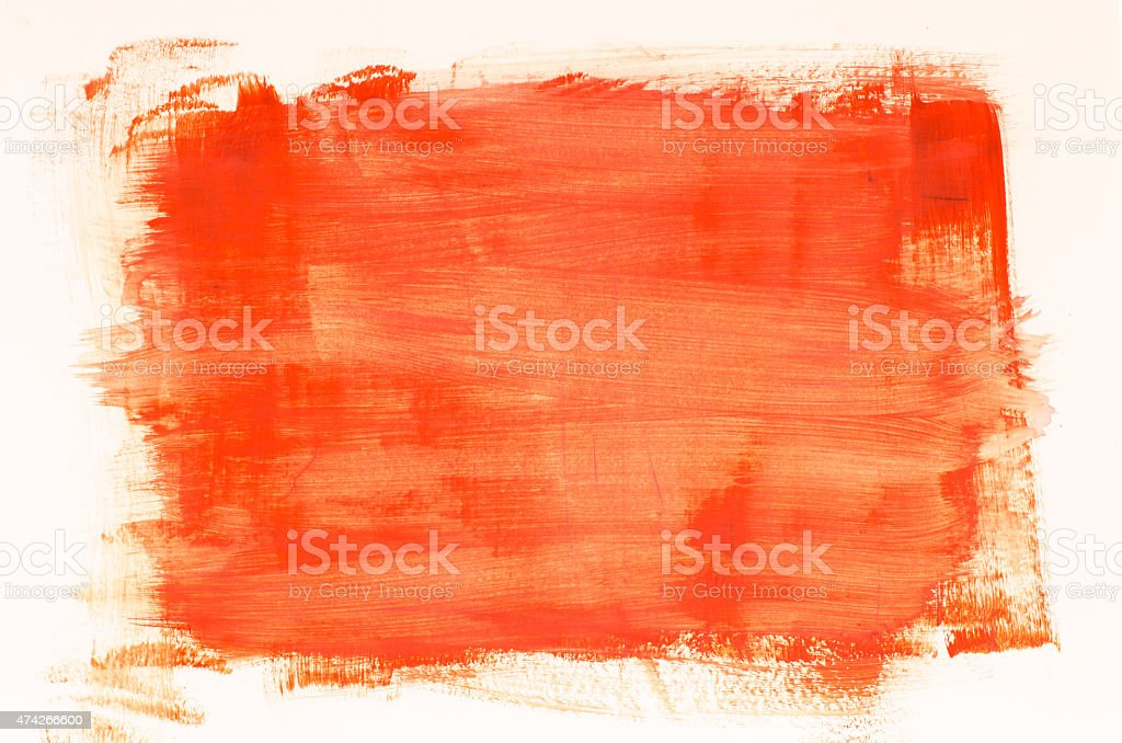 orange watercolor painting texture stock photo