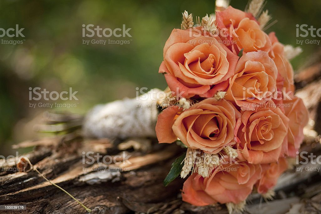 Orange Wedding Bouquet. royalty-free stock photo