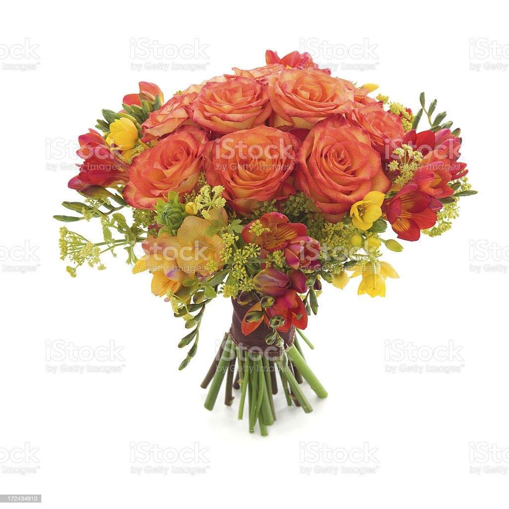Orange wedding bouquet royalty-free stock photo