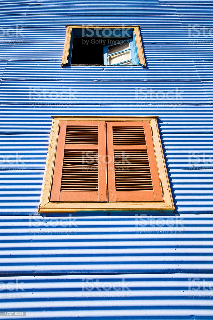 Orange window royalty-free stock photo