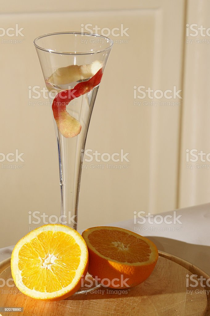 orange with cup stock photo