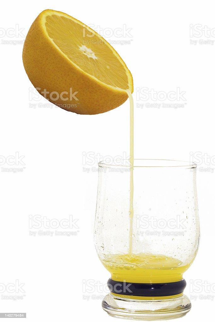 orange mit Saft Lizenzfreies stock-foto