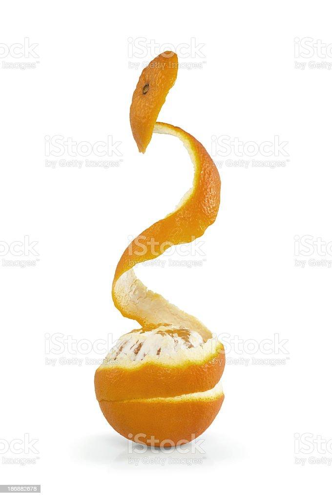 Orange with peel royalty-free stock photo