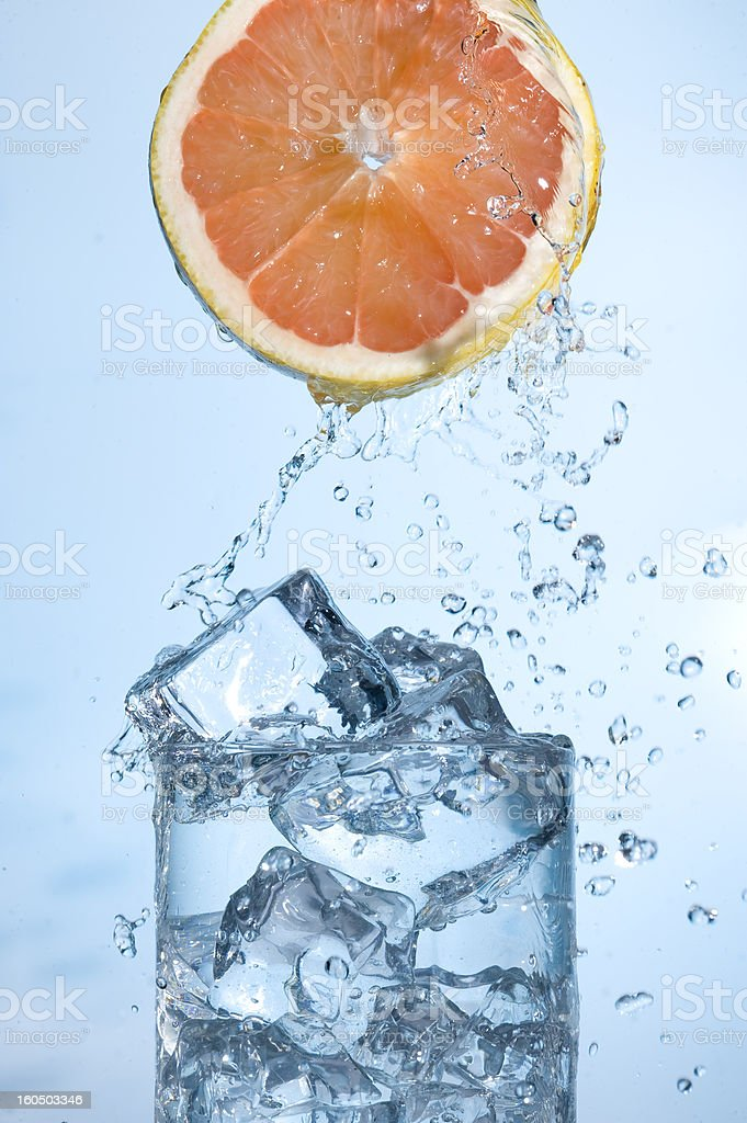 Orange with water royalty-free stock photo