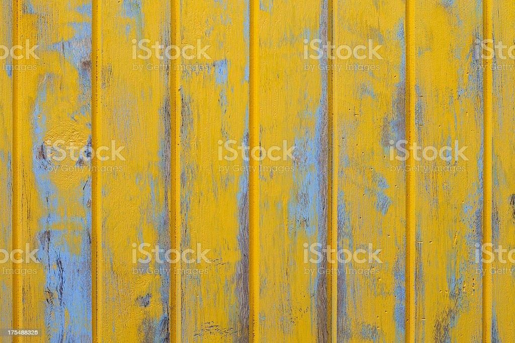 Orange wooden fence background. stock photo