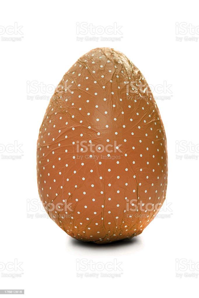 Orange wrapped Easter Egg royalty-free stock photo
