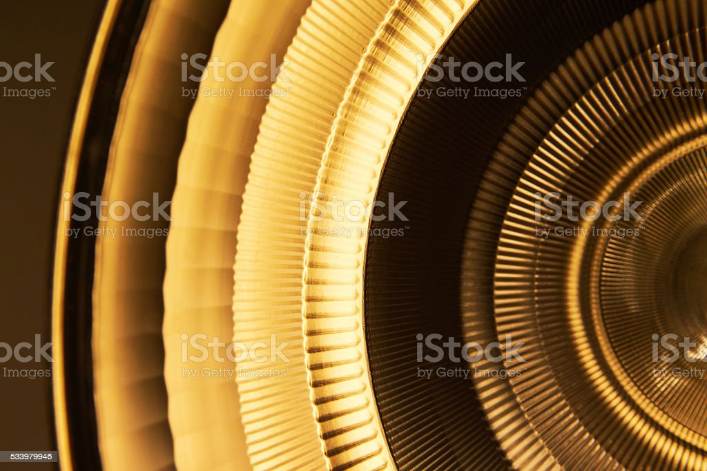 Orange yellow light reflector in medical environment stock photo