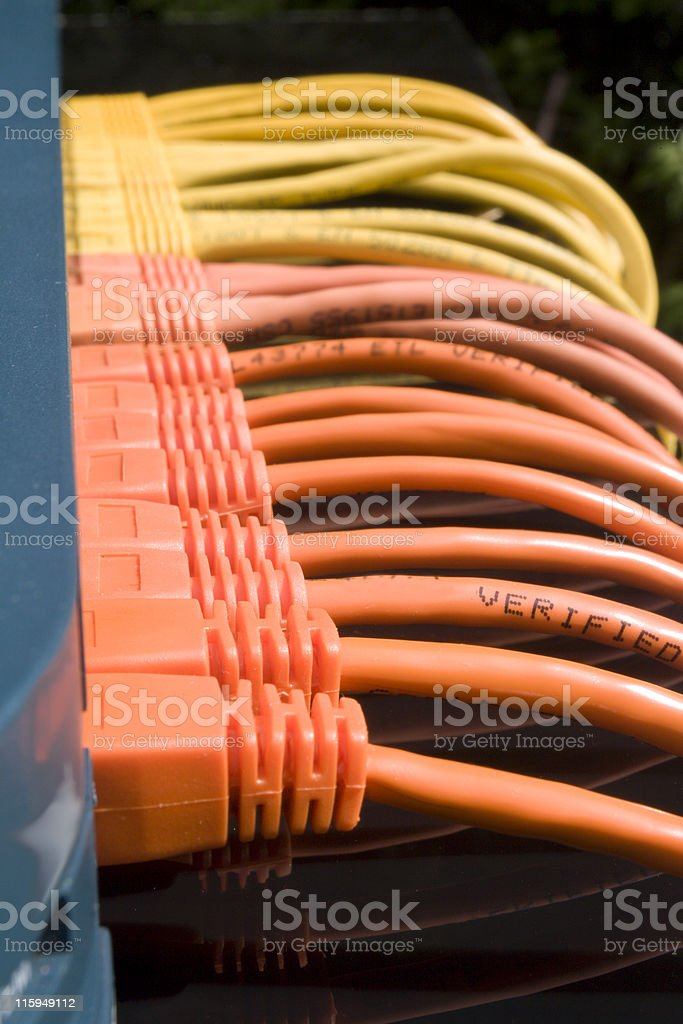 Orange & Yellow Network royalty-free stock photo