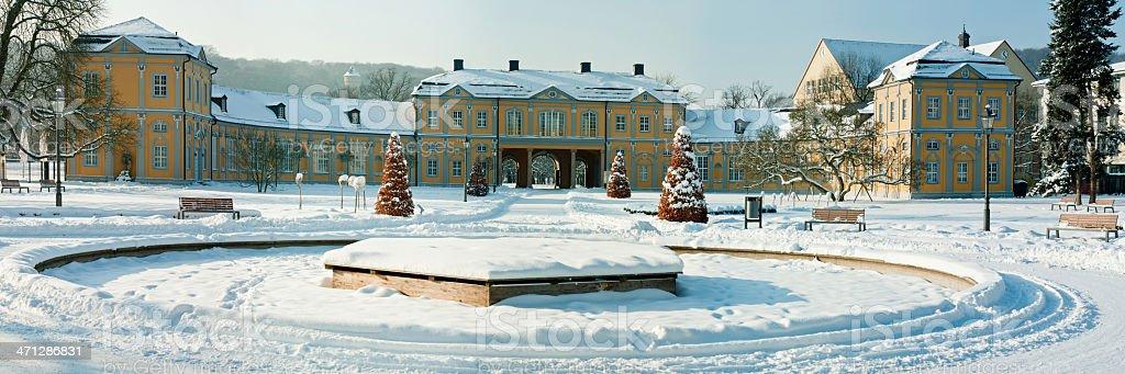 Orangerie Gera in winter, Thuringia Germany royalty-free stock photo