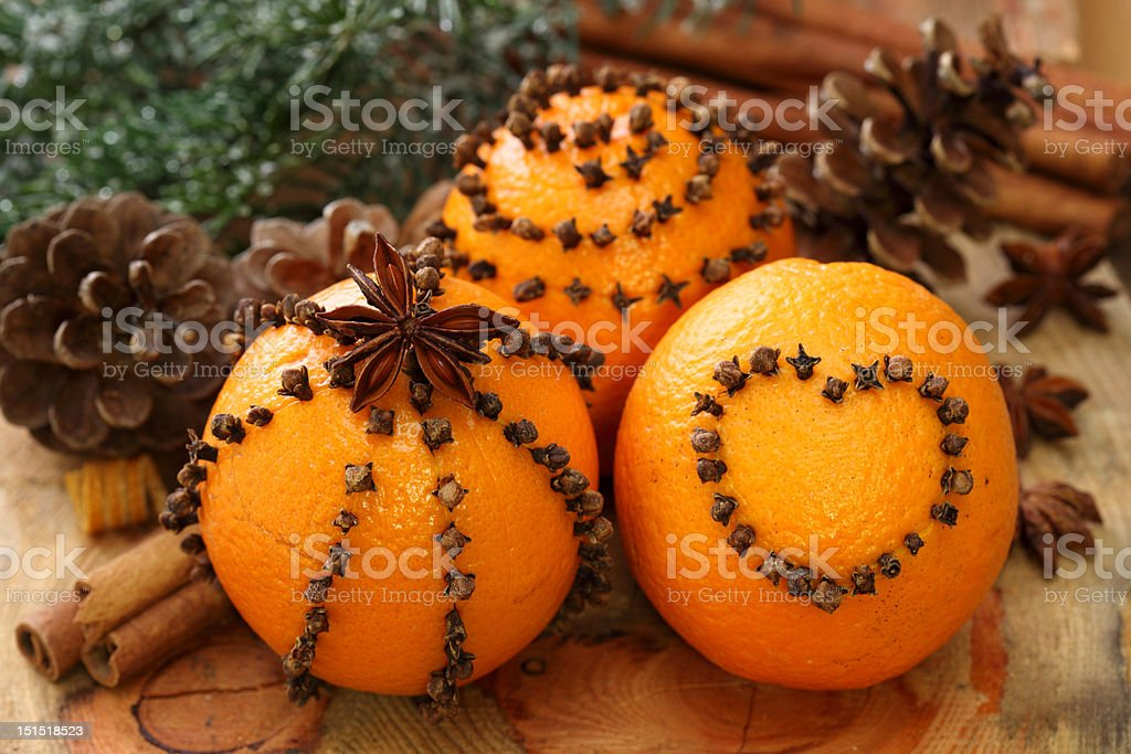 Oranges and cloves royalty-free stock photo