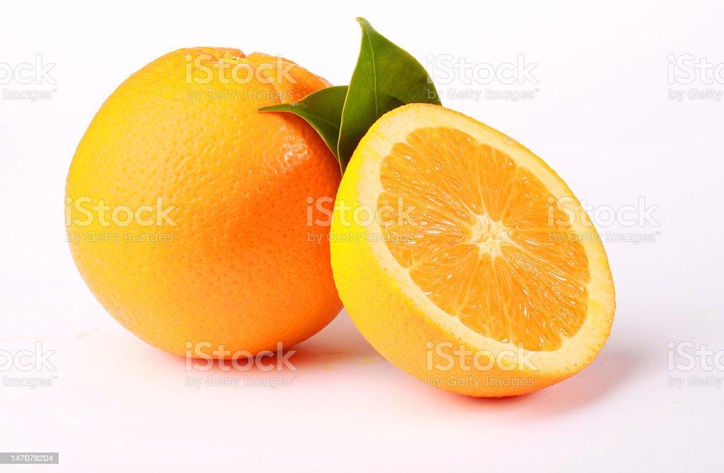 Oranges et les leafs photo libre de droits