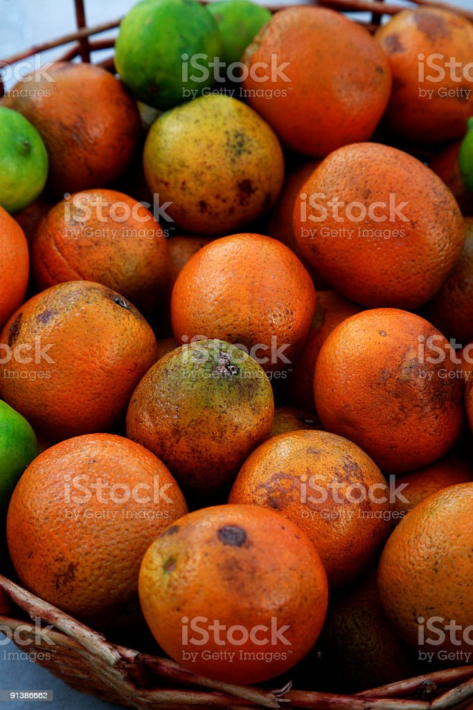 oranges and limes stock photo