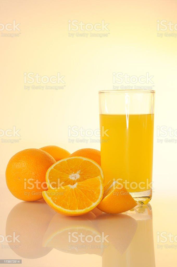 oranges and orange juice royalty-free stock photo