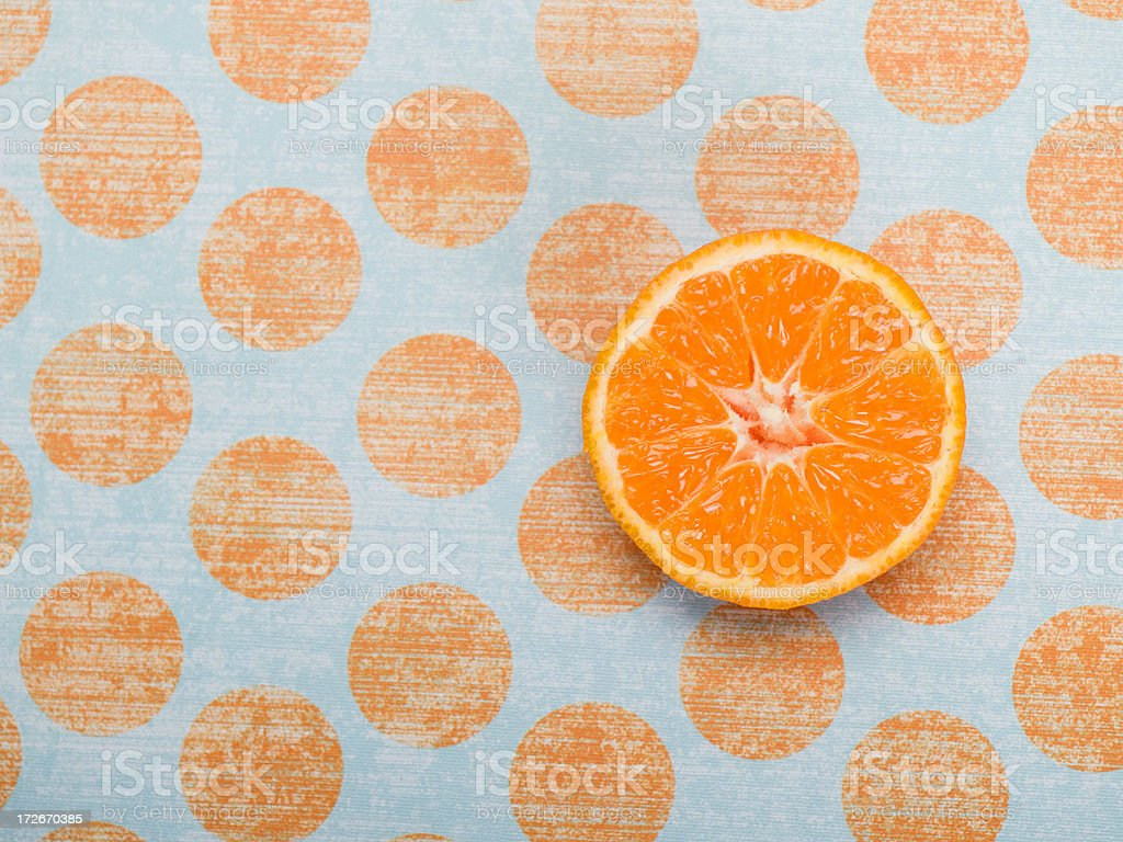 oranges and polka dots royalty-free stock photo