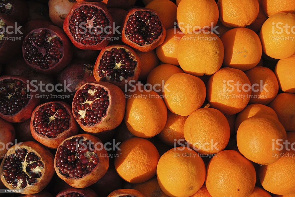 Oranges and Pomegranates stock photo